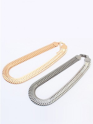Stylish Occident Personality Metallic thick chains Short Necklace