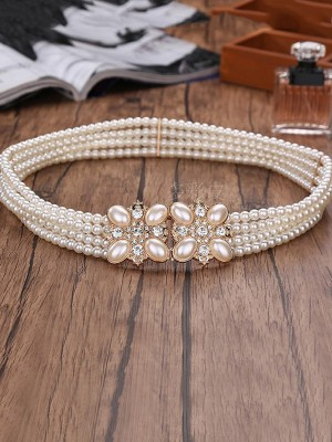 Satin Rhinestones Wedding Dress Sash