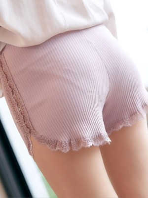 Women Cotton Lace Seamless Safety Pants Shorts