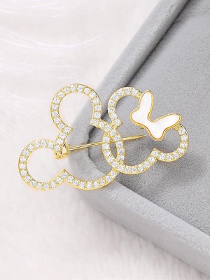 Women's Fashion Rhinestone Wedding Brooch