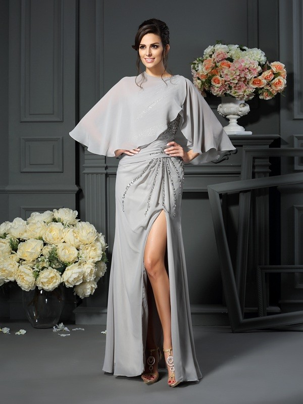 Fancy Mermaid One-Shoulder Sleeveless Long Chiffon Mother of the Bride Dress