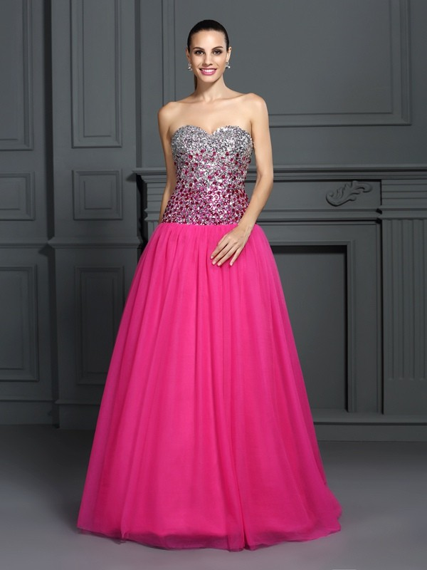 Gorgeous Ball Gown Sweetheart Sleeveless Long Organza Quinceanera Dress