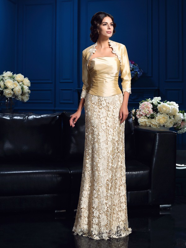 Stylish Lace 3/4 Sleeves Taffeta Special Occasion Wrap