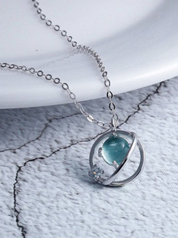 New Hot Sale Korean New Hot Sale Sterling Silver With Crystal Necklace