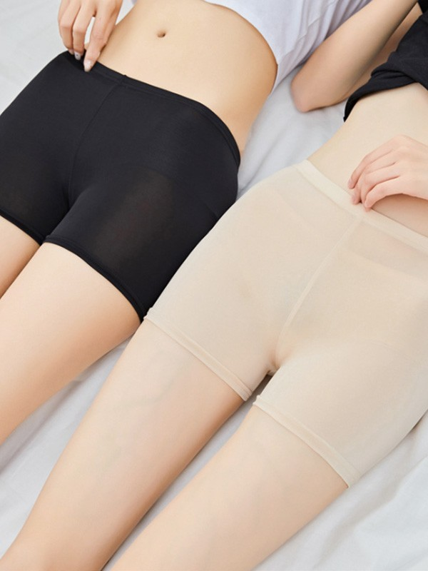 Women Polyester Fiber Elastic Safety Pants Shorts