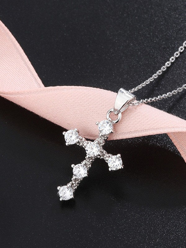 New Trends S925 Silver Rhinestone Necklace