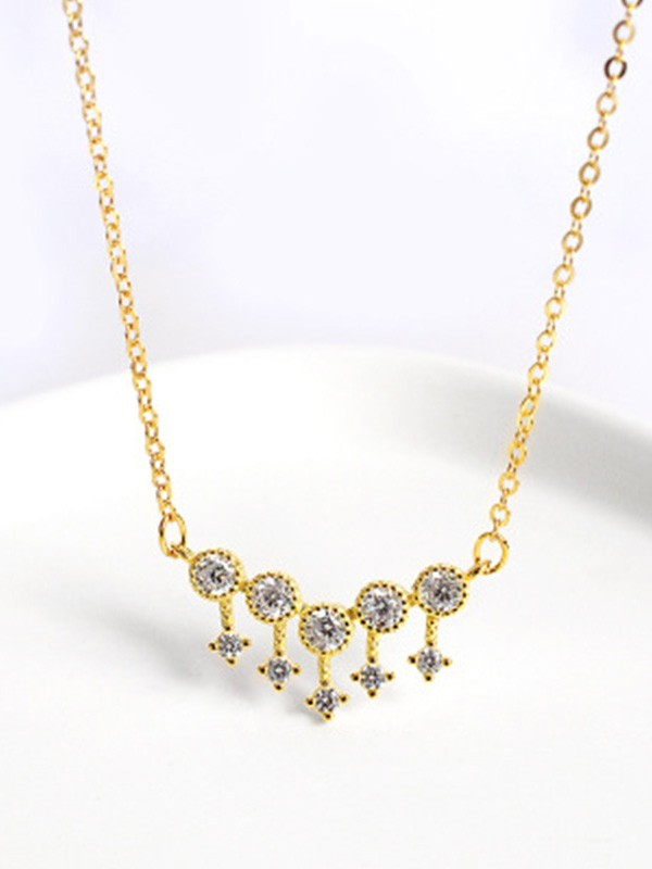 New Hot Sale Silver Necklace With Rhinestone