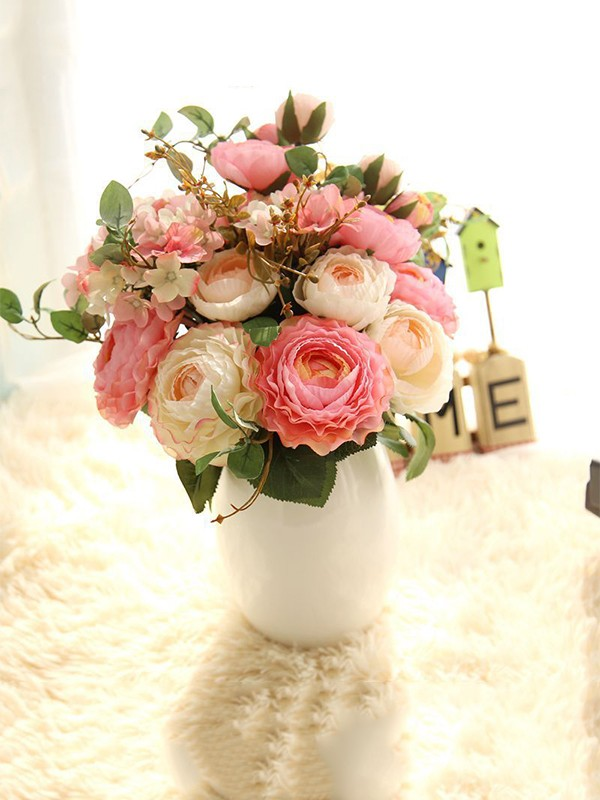 Hot Sale Free-Form Silk Flower Wedding Bouquets/Bridesmaid Bouquets
