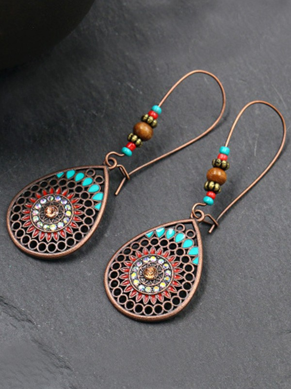 New Hot Sale Bohemia Style Alloy With Water Drop Earrings