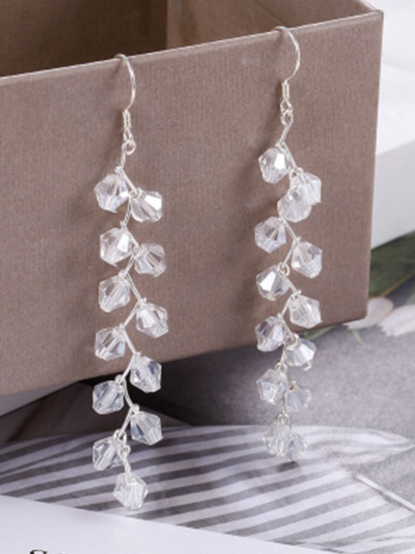 New Hot Sale Korean New Hot Sale Silver With Crystal Earrings