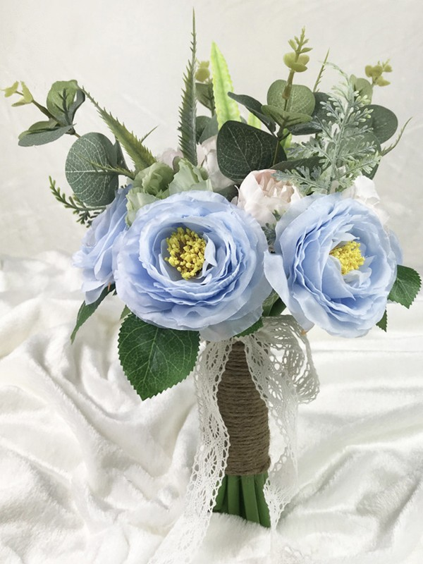 Hot Sale Free-Form Silk Flower Wedding Bouquets