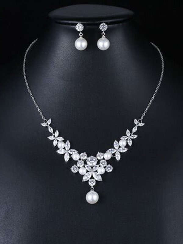 New Hot Sale Occident Zircon Wedding Bridal Jewelry Set
