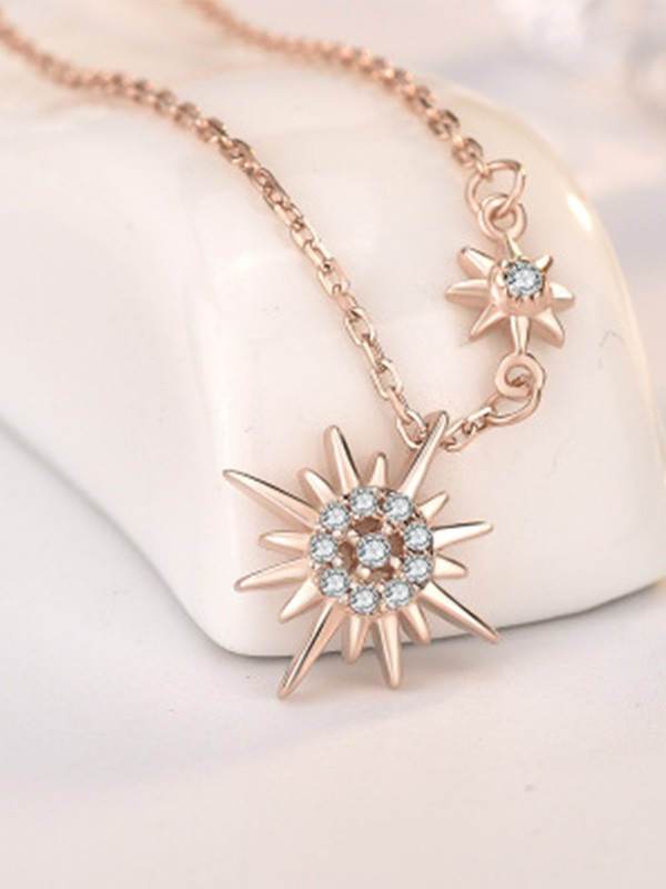 New Hot Sale Silver With Sun Necklace