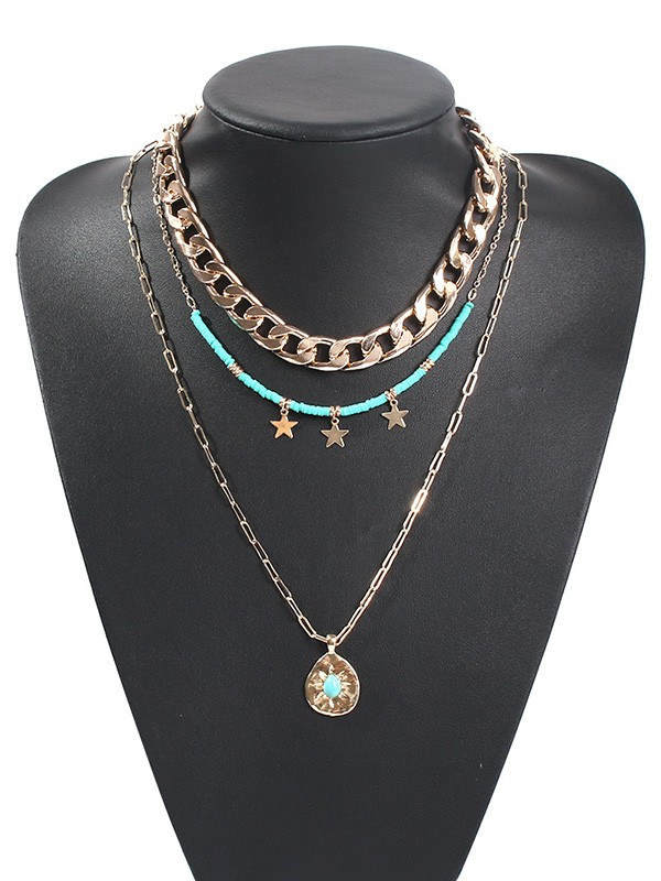 New Hot Sale Alloy With Star Necklace