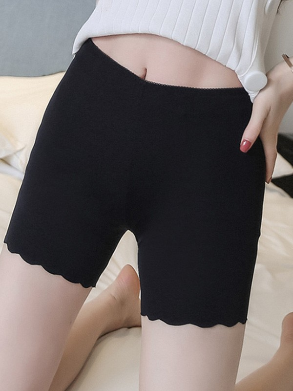 Women Nylon Seamless Elastic Safety Pants Shorts