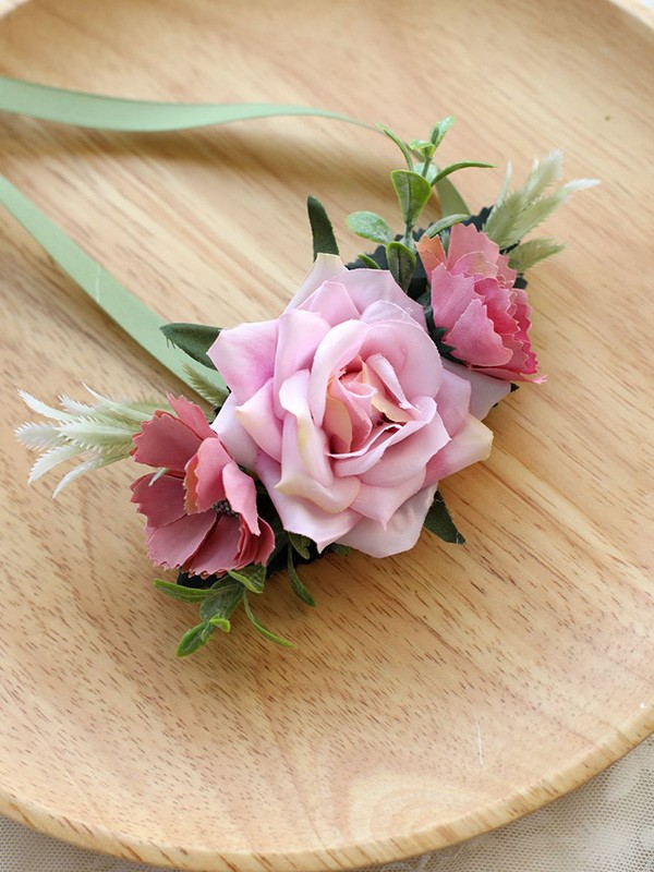 Hand-tied Cloth Wrist Wedding Prom Corsage