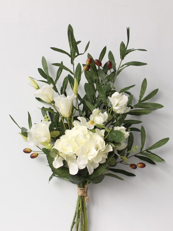 Hot Sale Pure Free-Form Silk Flower Wedding Bouquets