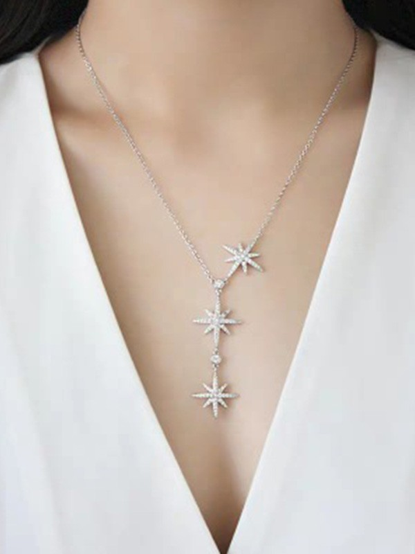 New Hot Sale Sterling Silver With Star Necklace