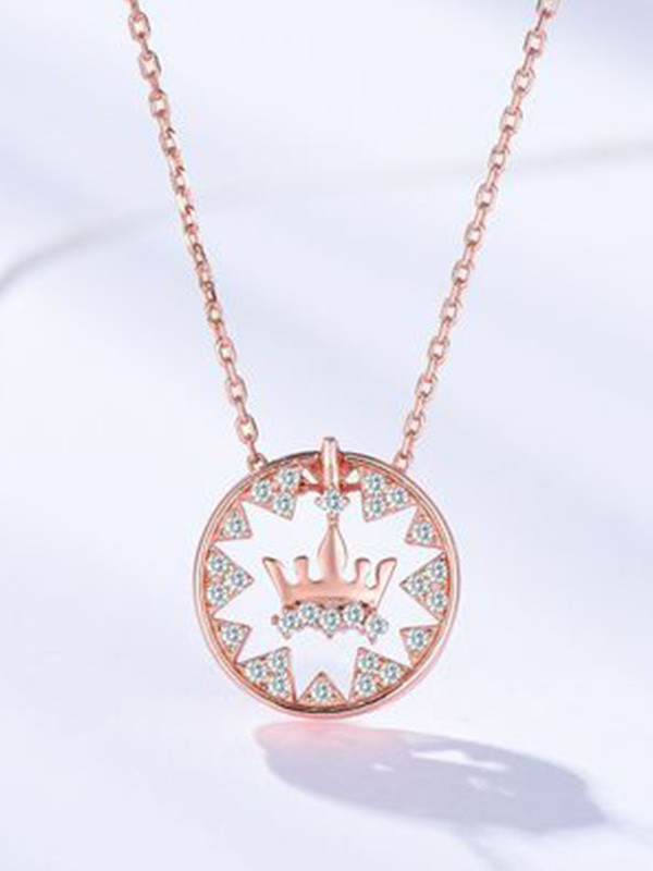 New Hot Sale Silver With Crown Necklace