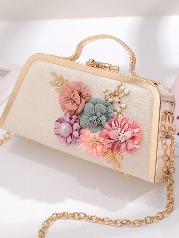 New With Flowers Evening/Party Handbag