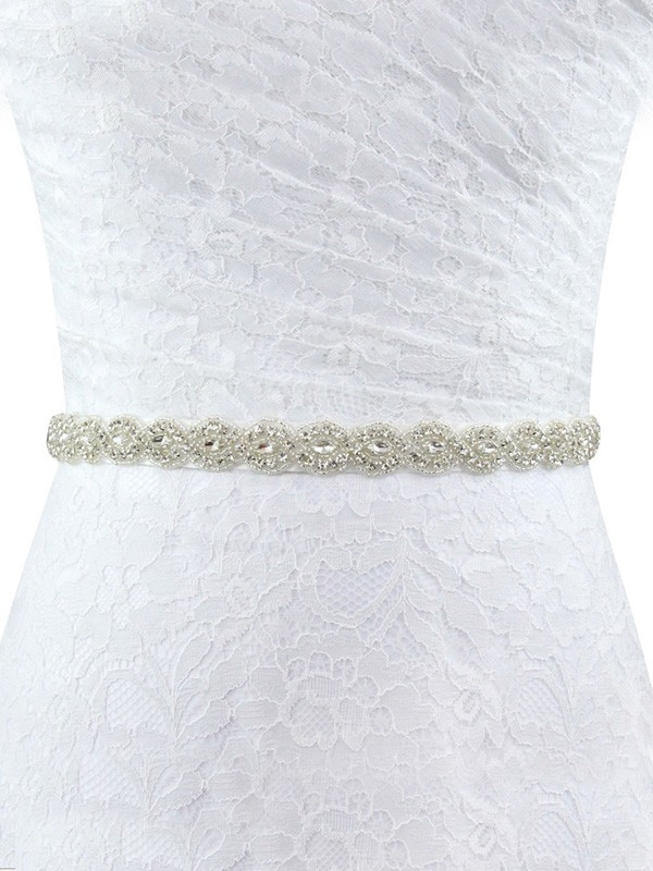 Cloth Rhinestones Wedding Dress Sash