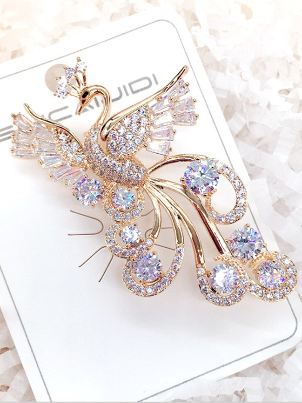 Women's Fashion Alloy With Zircon Wedding Brooch