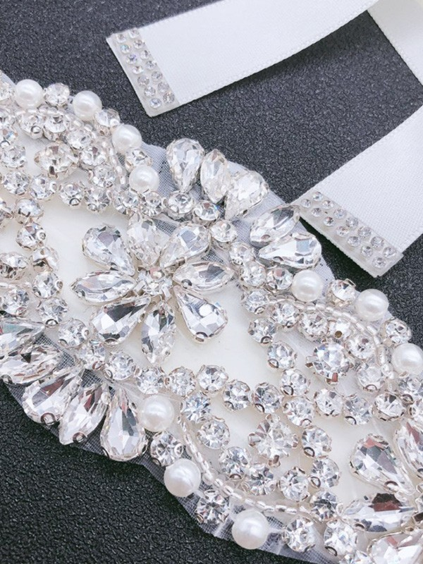 Metal Rhinestones Wedding Dress Sash