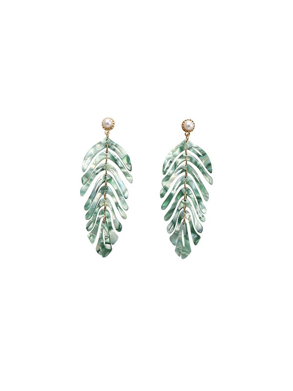 New Hot Sale Alloy With Leaf Earrings