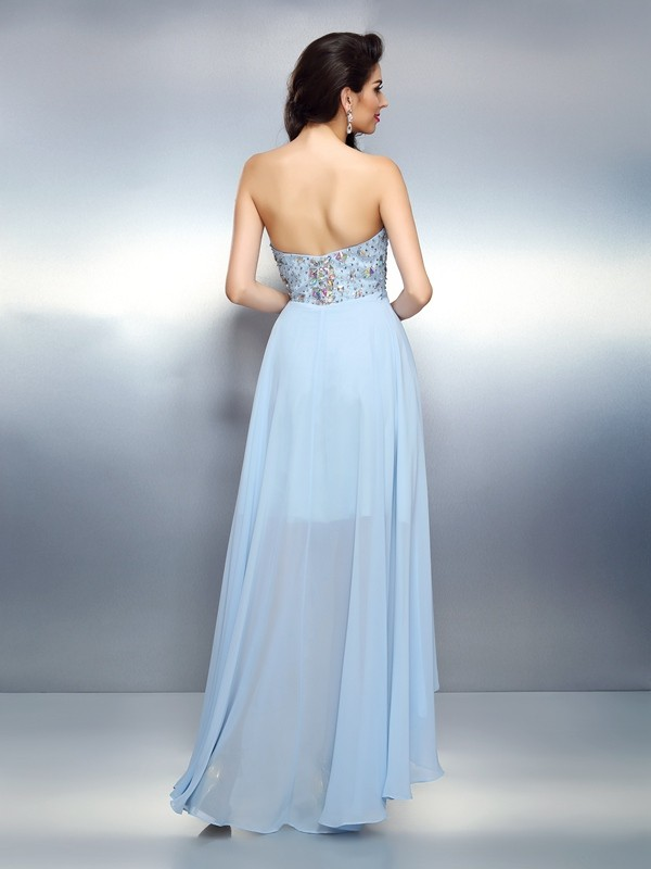 Exquisite A-Line Sweetheart Sleeveless High Low Chiffon Cocktail Dress