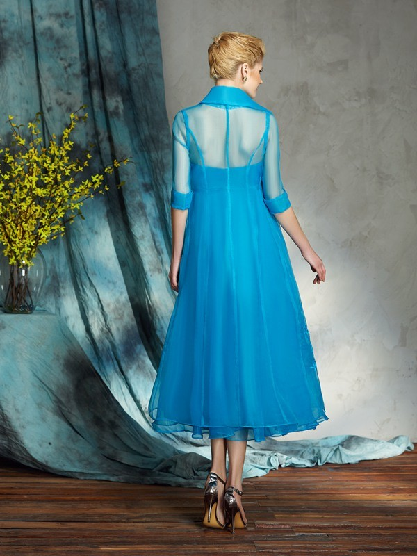 Amazing A-Line Strapless Sleeveless Short Organza Mother of the Bride Dress