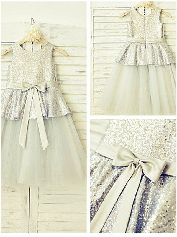 Amazing A-line Sleeveless Scoop Tea-length Tulle Flower Girl Dress