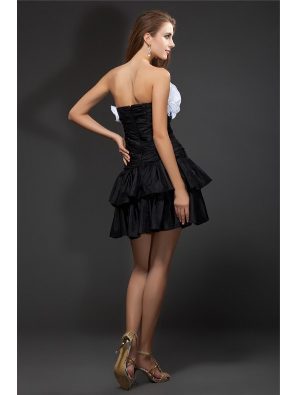 Gorgeous A-Line Strapless Sleeveless Short Taffeta Cocktail Dress