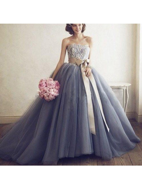 98ee4c027 Perfect Ball Gown Sweetheart Sleeveless Tulle Sweep/Brush Train Dress ...