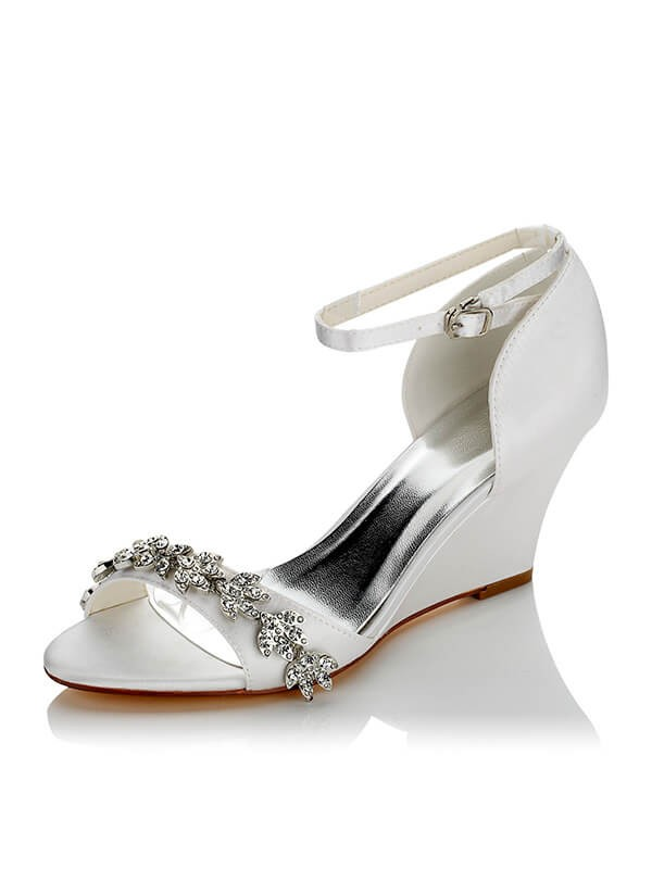 Wedge Heel Wedding Shoes Victoriagowns