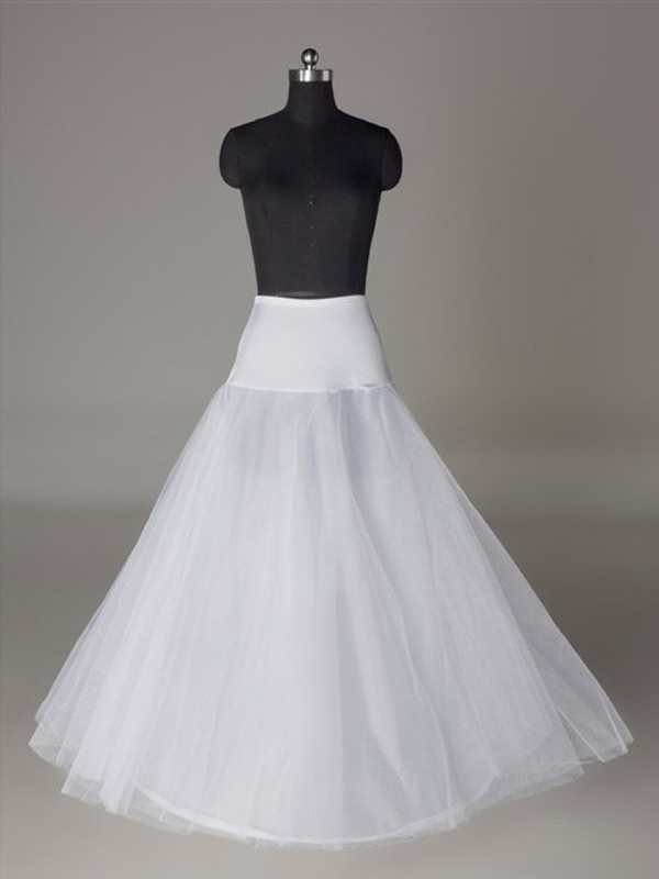 New Tulle Netting A-Line 2 Tier Floor Length Slip Wedding Petticoat