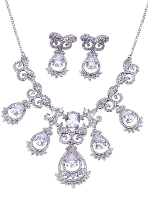 New Hot Sale Alloy Wedding Bridal Jewelry Set