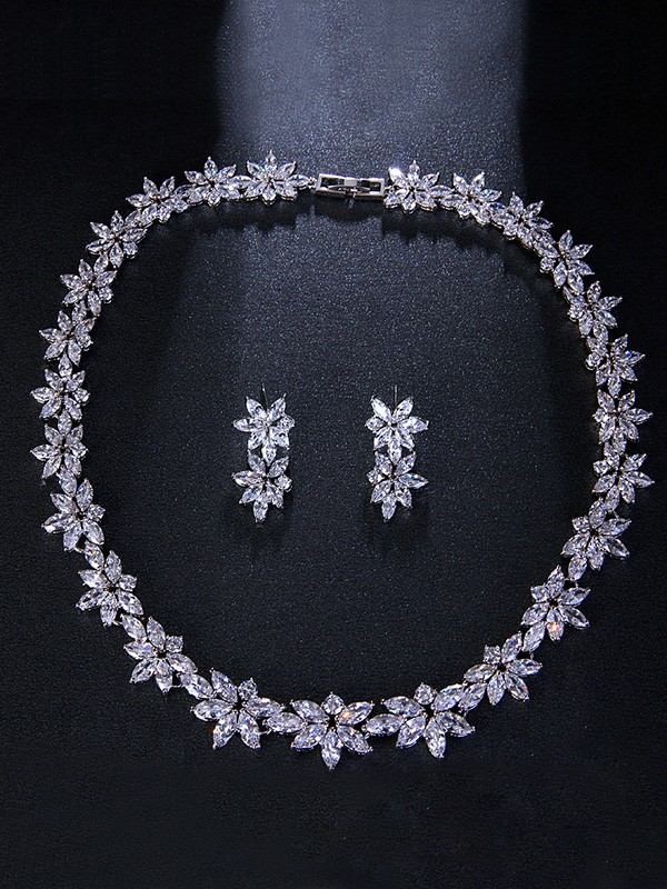 New Hot Sale Occident Alloy With Flowers Wedding Bridal Jewelry Set