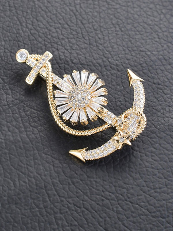 Women's Fashion Copper With Zircon Wedding Brooch