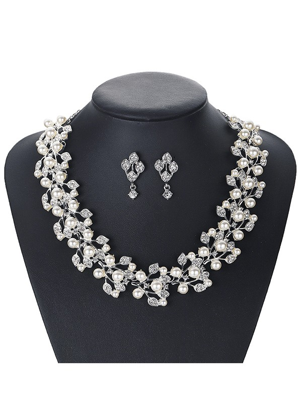 New Trends Alloy Pearl Jewelry Set