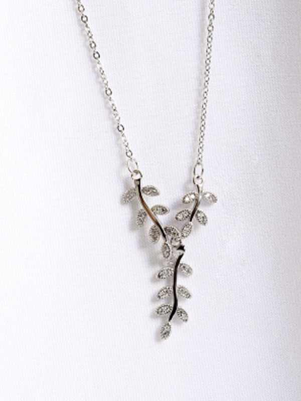New Hot Sale Sterling Silver With Leaf Necklace
