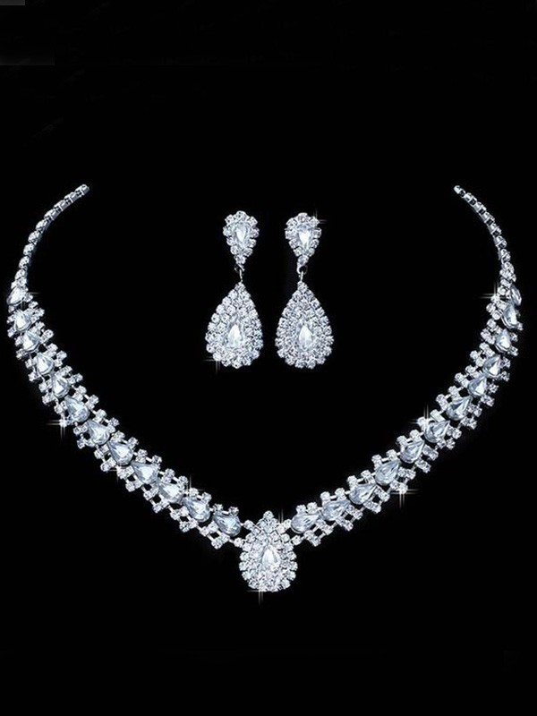 New Hot Sale Korean Rhinestone Wedding Bridal Jewelry Set