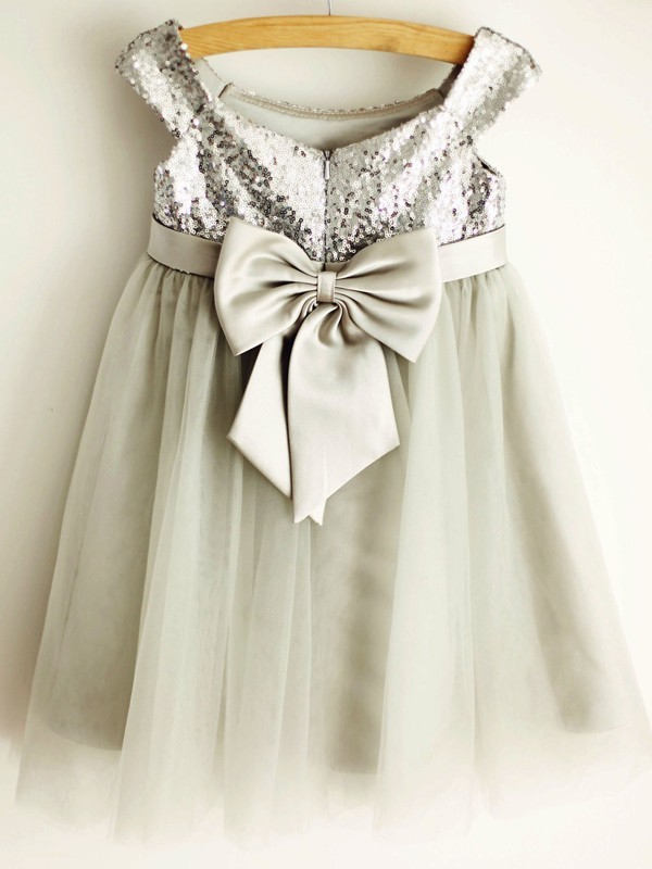 Perfect A-Line Tulle Scoop Sleeveless Knee-Length Flower Girl Dress