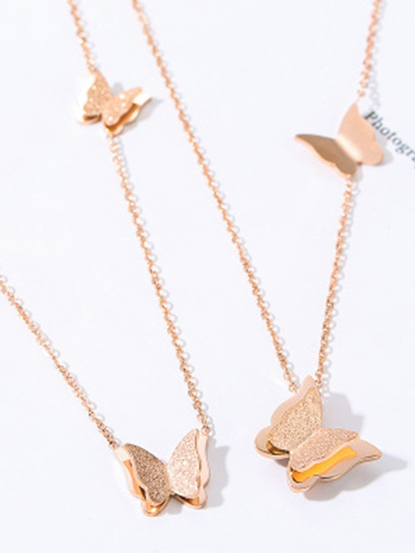 New Hot Sale Titanium Necklace With Butterfly