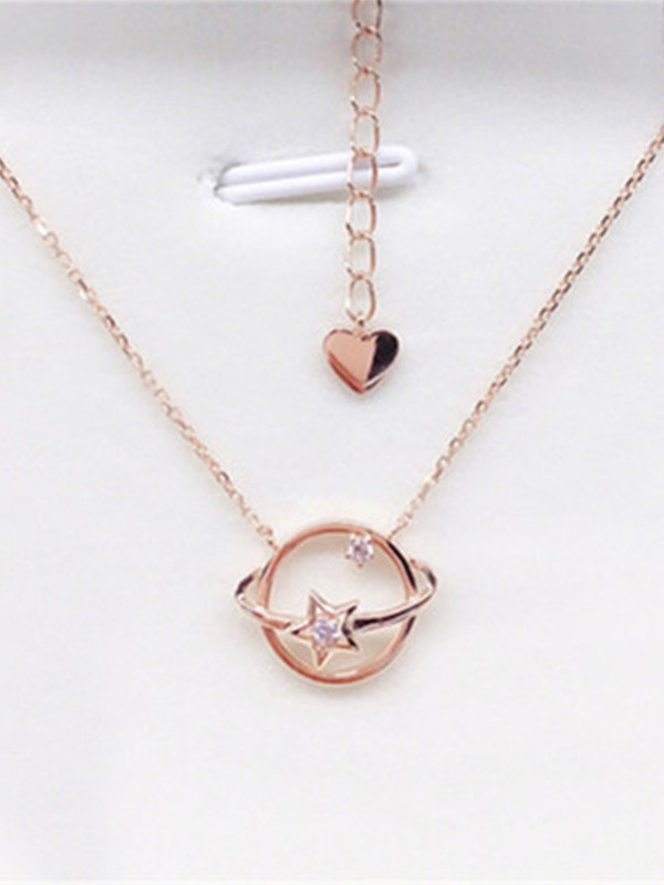 New Hot Sale Sterling With Universe Silver Necklace