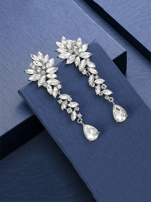 New Hot Sale Crystal Long Earrings