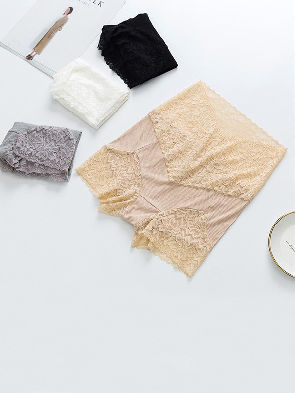 Women Lace Seamless Elastic Safety Pants Shorts