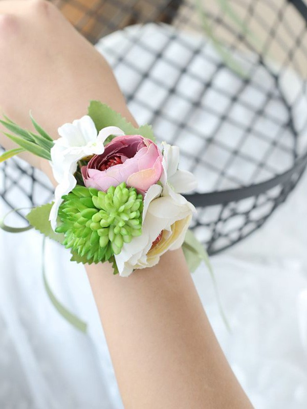 Cloth Hand-tied Wrist Wedding Prom Corsage