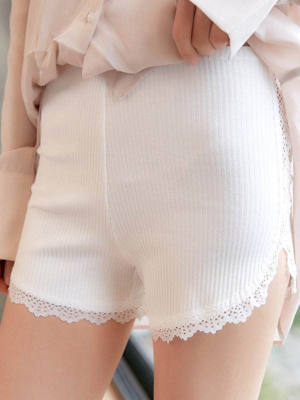 Women Cotton Lace Seamless Plus Size Safety Pants Shorts