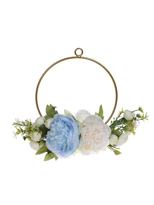 Hot Sale Girly Round Plastic Wedding Bouquets