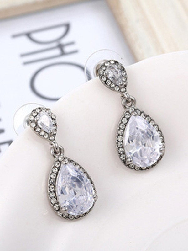 New Hot Sale Silver With Crystal Earrings